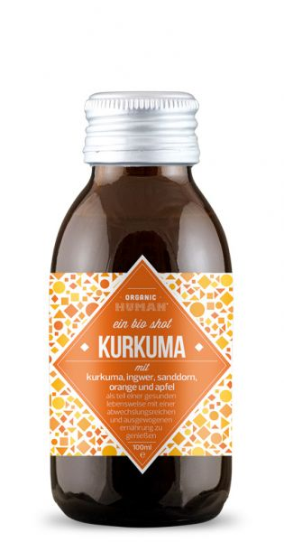 Organic Human - gesunder Energy Shot, Kurkuma - 0,1l (Einzelglas)
