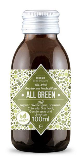 Organic Human - gesunder Bio Energy Shot, All Green (DE-ÖKO-003) - 0,1l (Einzelglas)