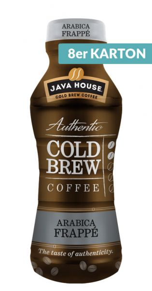 Java House - Cold Brew Coffee, Arabica Frappe 0,3l - PET (8er Karton)