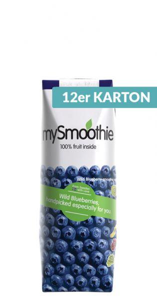 mySmoothie - ohne Kühlung haltbar, Blaubeere 0,25l Tetra-Pak (12er Karton)