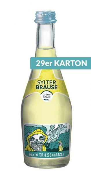 Sylter Brause - Moin Friesennerz, Zitrus und Ingwer, 0,33l - Glas (29er Karton)