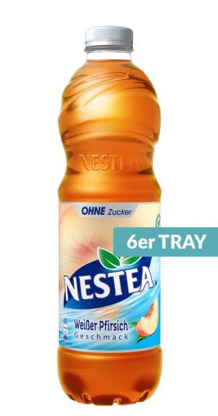 Nestea Eistee - Weißer Pfirsich Zuckerfrei - 1,5l (6er Tray)