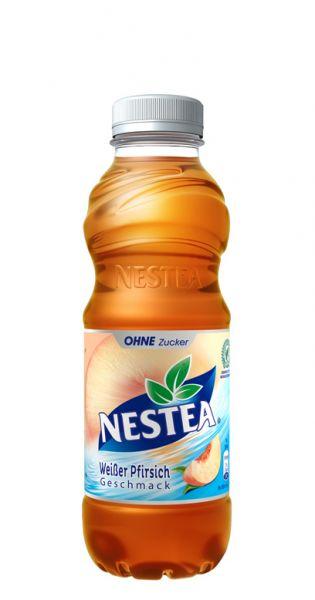 Nestea Eistee - Weißer Pfirsich Zuckerfrei - 0,5l (Einzel PET)