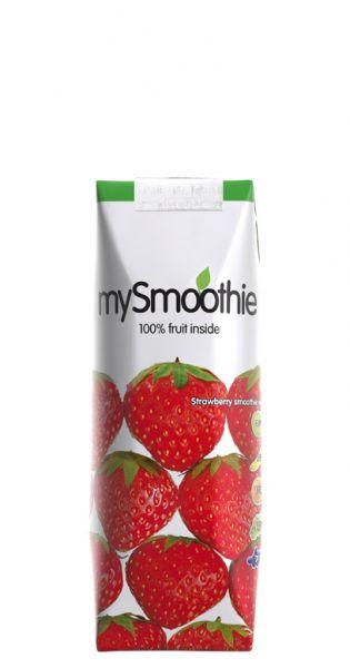 mySmoothie - ohne Kühlung haltbar, Erdbeere 0,25l Tetra-Pak