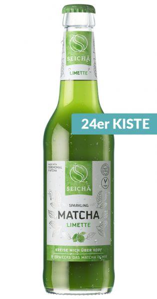 Seicha Matcha Drink - Limette 0,33l Glas (24er Karton)