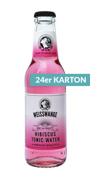 Weisswange - Hibiskus Tonic Wasser, Trocken und Fruchtig 0,2l (24er Karton)