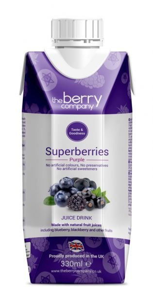 The Berry Company - Purple, Superberries 0,33l - Tetra-Pak