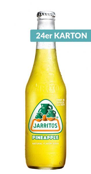 Jarritos mexikanische Limo - natürlicher Geschmack, Ananas 0,37l - Glas (24er Karton)