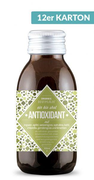 Organic Human - gesunder Energy Shot, Antioxidant 0,1l Glas (12er Karton)