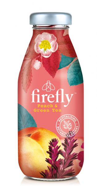 firefly natural drinks - red: Peach & Green Tea 0,33l Glas