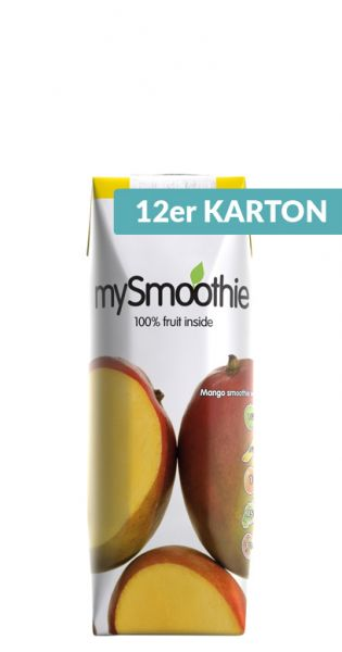 mySmoothie - ohne Kühlung haltbar, Mango 0,25l Tetra-Pak (12er Karton)