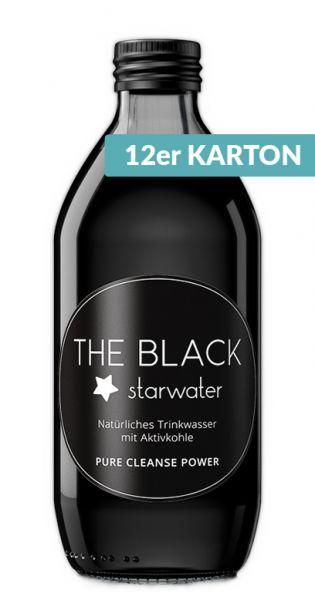 The Black Starwater - Wasser mit Aktivkohle 0,33l Glas (12er Karton)