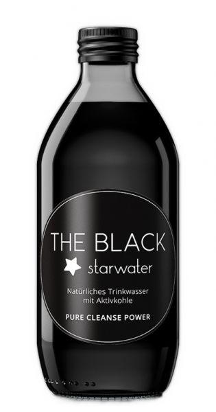 The Black Starwater - Wasser mit Aktivkohle 0,33l Glas