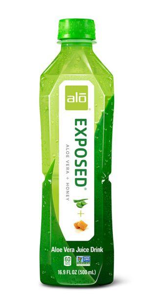 ALO Drink - EXPOSED, Aloe Vera mit Honig - 0,5l (Einzelflasche)