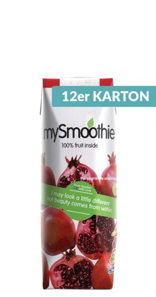 mySmoothie - ohne Kühlung haltbar, Granatapfel 0,25l Tetra-Pak (12er Karton)