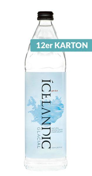 Icelandic Glacial Wasser - Island Premium Wasser, still - 0,75l (12er Karton)