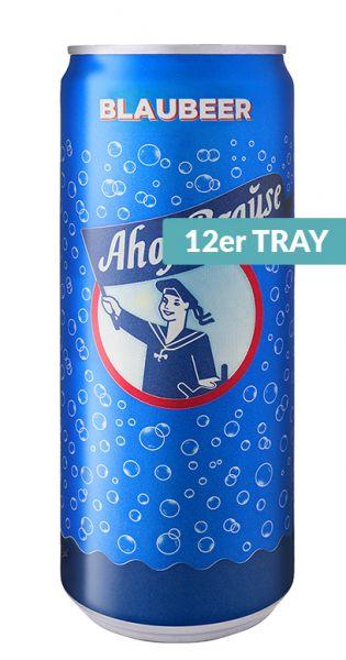 Ahoj Brause Drink - Blaubeere - 0,33l (12er Tray)