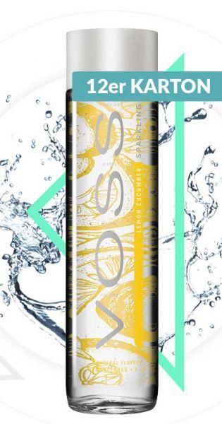 Voss Wasser - Zitrone und Gurke, sprudelig - 0,375l (12er Karton)