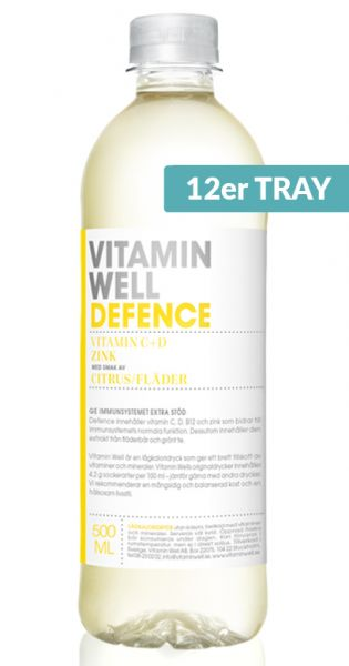 Vitamin Well - Defence, Zitronen und Holunderblten 0,5l PET (12er Tray)