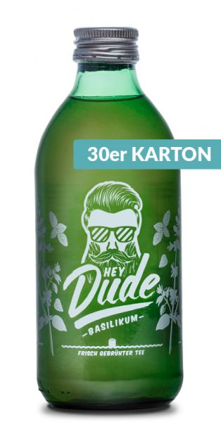 Hey Dude - Eistee Basilikum 0,33l Glas (30er Kiste)