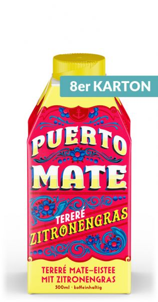 Puerto Mate - Zitronengras - 0,5l (8er Karton)