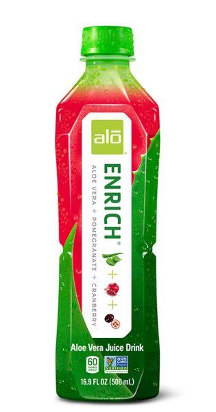 ALO Drink - ENRICH, Aloe Vera, Granatapfel und Cranberry - 0,5l (Einzelflasche)