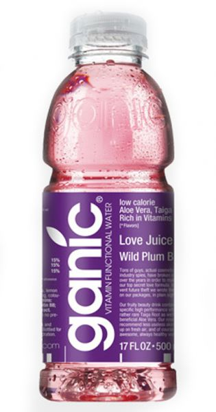ganic Vitaminwater - Love Juice, Pflaume und B8 0,5l PET