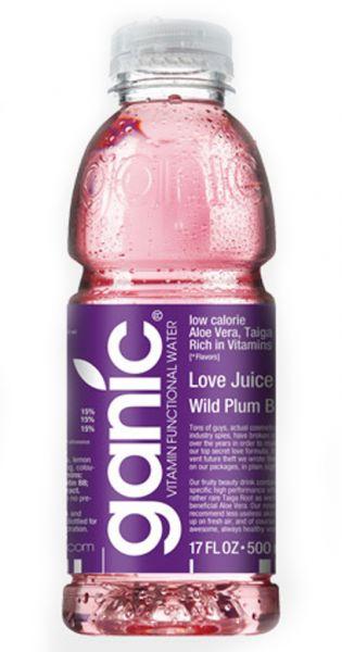 ganic Vitaminwater - Love Juice, Pflaume und B8 - 0,5l (Einzel PET)
