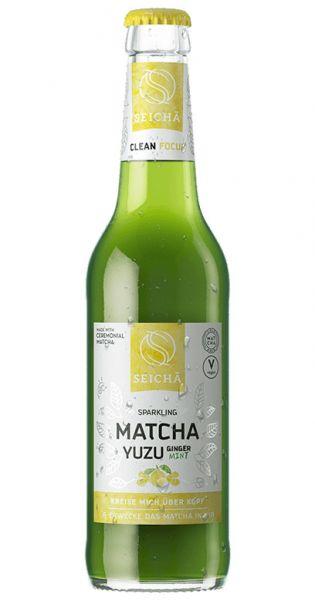 Seicha Matcha Drink - Yuzu Ingwer Mint, sparkling 0,33l Glas