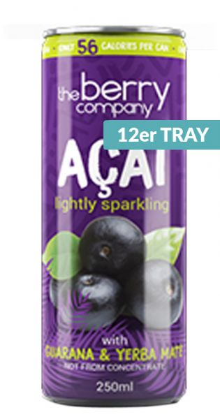 The Berry Company - Acai, Guarana und Yerba Mate 0,25l Dose (12er Tray)