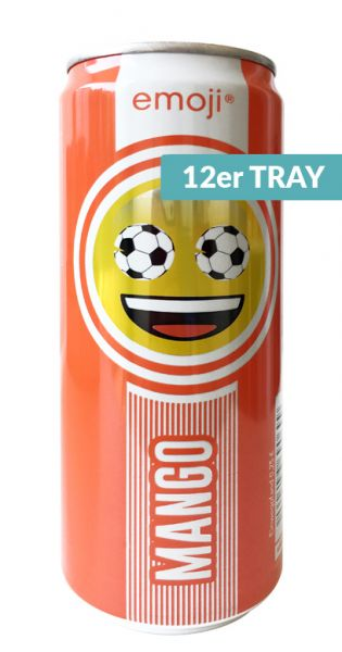 Emoji Drink - Keep Smiling, Mango, 0,33l - Dose (12er Tray)