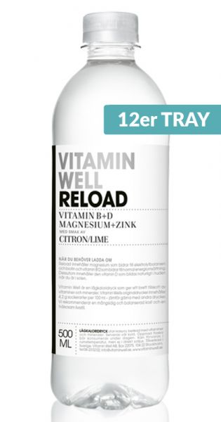 Vitamin Well - Reload, Zitrone und Limette 0,5l PET (12er Tray)