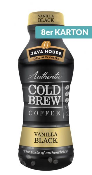 Java House - Cold Brew Coffee, Vanilla Black 0,3l PET (8er Karton)