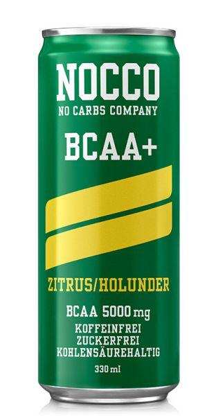 NOCCO BCAA - Zitrus, Holunder - 0,33l (Einzeldose)