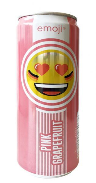 Emoji Drink - Keep Smiling, Pink Grapefruit, 0,33l - Dose