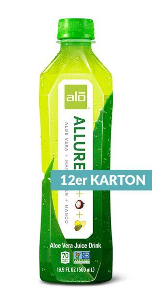 ALO Drink - ALLURE, Aloe Vera, Mango und Mangostan - 0,5l (12er Karton)
