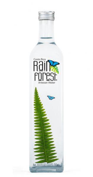 Rain Forest Water - Artesisches Wasser aus Costa Rica, still - 0,75l (Einzelglas)