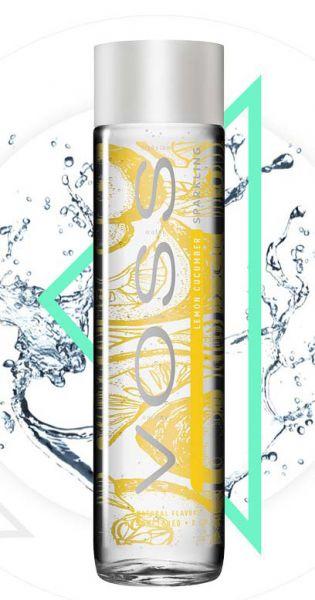 Voss Wasser - Zitrone und Gurke, sprudelig - 0,375l (Einzelglas)