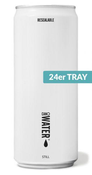 CanO Wasser - Premium Wasser aus der Dose, wiederverschließbar, still - 0,33l (24er Tray)