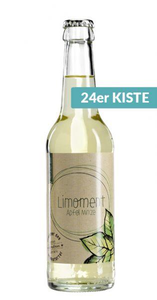 Limoment - Apfel und Minze 0,33l Glas (24er Karton)