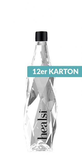 healsi Water - Diamant Flasche, crystal, still 0,4l Glas (12er Karton)
