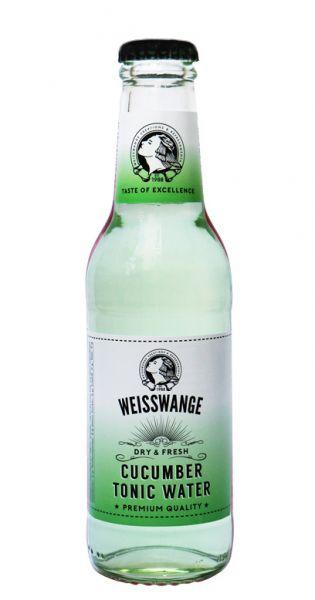 Weisswange - Salatgurke Tonic Wasser, Trocken und Frisch 0,2l Glas-Flasche
