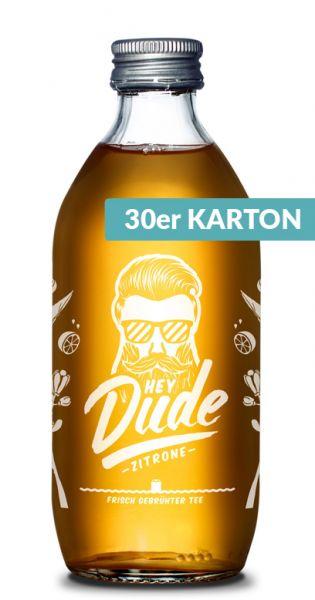 Hey Dude - Eistee Zitrone 0,33l Glas (30er Kiste)