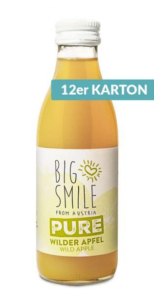 Big Smile - 100% Organic, wilder Apfel 0,2l Glas (12er Karton)