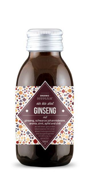Organic Human - gesunder Bio Energy Shot, Ginseng (DE-ÖKO-003) - 0,1l (Einzelglas)