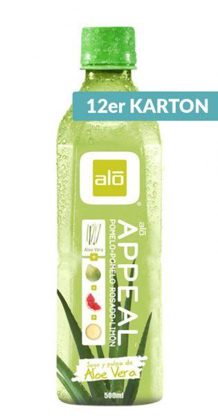 ALO Drink - APPEAL, Pomelo, Zitrone und Pink Grapefruit 0,5l (12er Karton)
