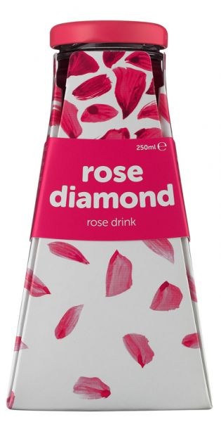 Rose Diamond Water - Rosenwasser 0,25l Glas