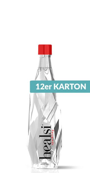 healsi Wasser - Diamant Wasser, crystal, sprudelig - 0,4l (12er Karton)