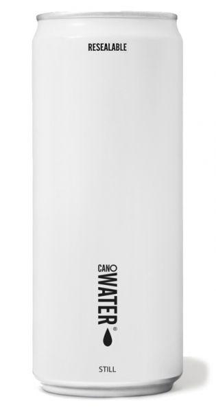 CanO Water - Premium Wasser aus der Dose, wiederverschließbar - still 0,33l Dose