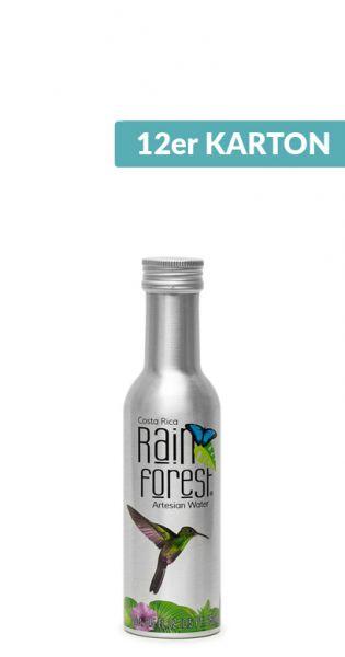 Rain Forest Water - Artesisches Wasser aus Costa Rica, still - 0,25l Alu-Flasche (12er Karton)